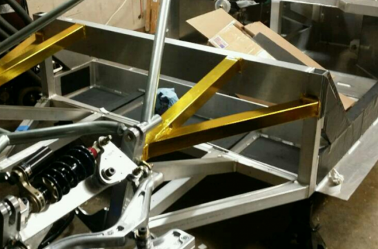 Monocoque For Racing Car Le Mans